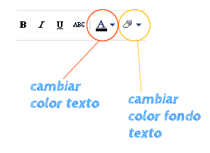 cambiar color texto blogger