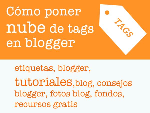 poner nube de tags en blogger