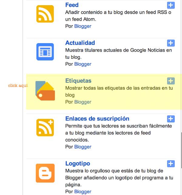 paso 2. Cómo poner nube tags en blogger
