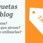 Cómo poner etiquetas en blogger