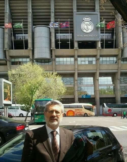 Juan José Ríos en el Bernabéu