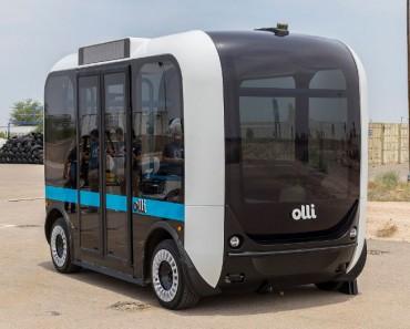 Olli, un minibus eléctrico autónomo impreso en 3D