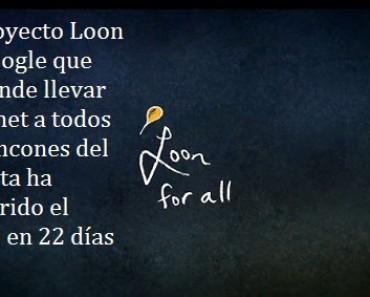 El proyecto Loon de Google recorre el planeta en 22 días