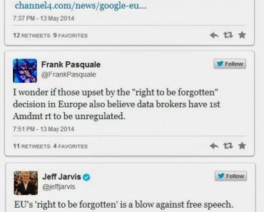La sentencia europea contra Google desata una oleda de críticas