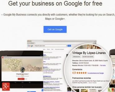 Google my Business: forma fácil de gestionar Google maps, Google plus y adwords