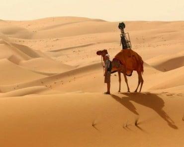 Google Street View recorre el desierto gracias a un camello