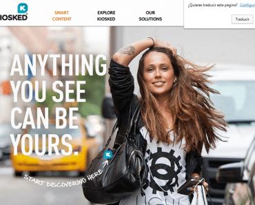 Una nueva tecnología convierte las fotos en anuncios (Kiosked)