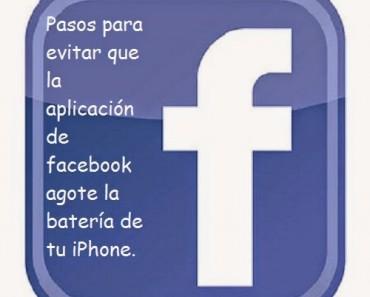 Facebook agota la batería del iPhone