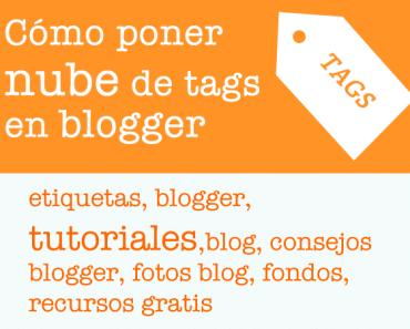 Cómo poner nube o lista de etiquetas en blogger