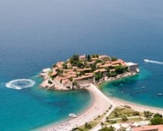 Aerial View of Sveti Stefan