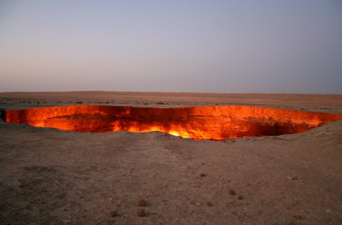El pozo de Darvaza - Turkmenistán
