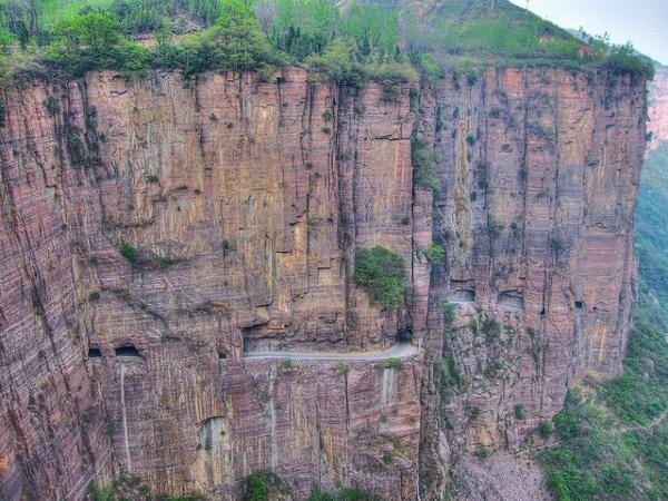 Carretera del túnel de Guoliang, en China