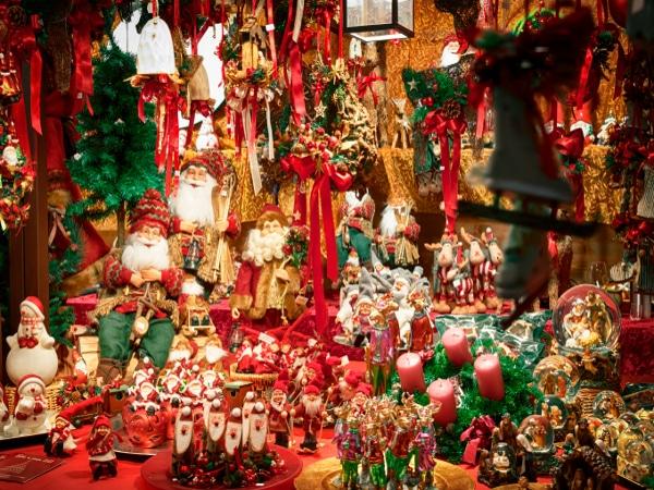 Mercados navideños en Copenhage, Dinamarca.