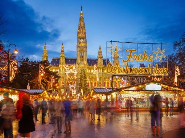 Mercados navideños en Viena, Austria.