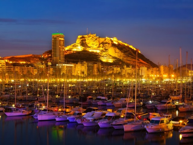 Puerto y Castillo Santa Barbara, Alicante