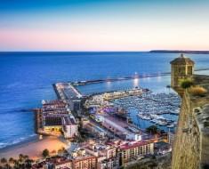 Vistas desde el Castillo Santa Barbara, Alicante