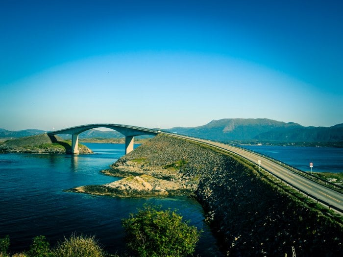 Beautiful Atlantic road . Norway