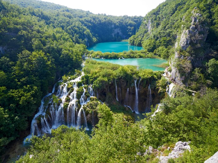Breathtaking view in the Plitvice Lakes National Park .Croatia