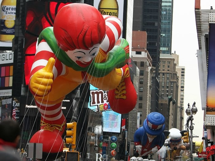 Ronald McDonalds Shrek Macy's Thanksgiving Day Parade