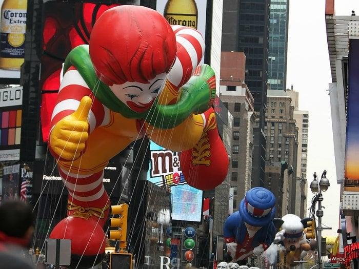Ronald McDonalds Shrek Macy's Thanksgiving Day Parade