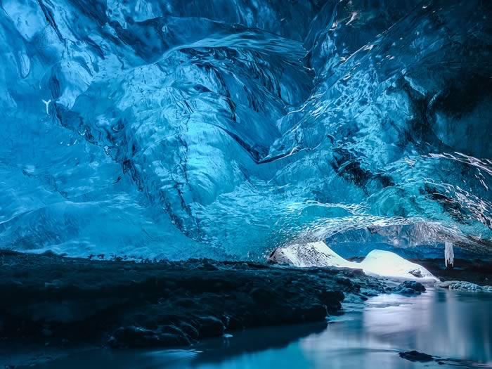 Cueva de hielo Skaftafell en Islandia