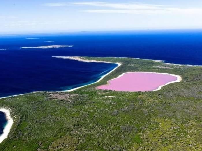 Lago rosa en Australia