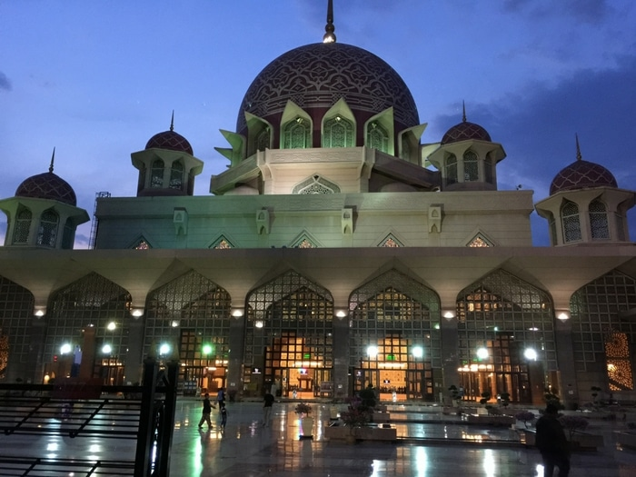Viajar a Malasia: Mezquita Putra, Putrajaya