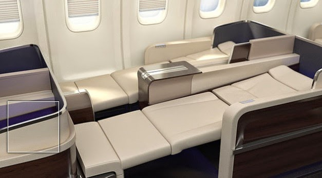 Asiento cama del Four Seasons Jet