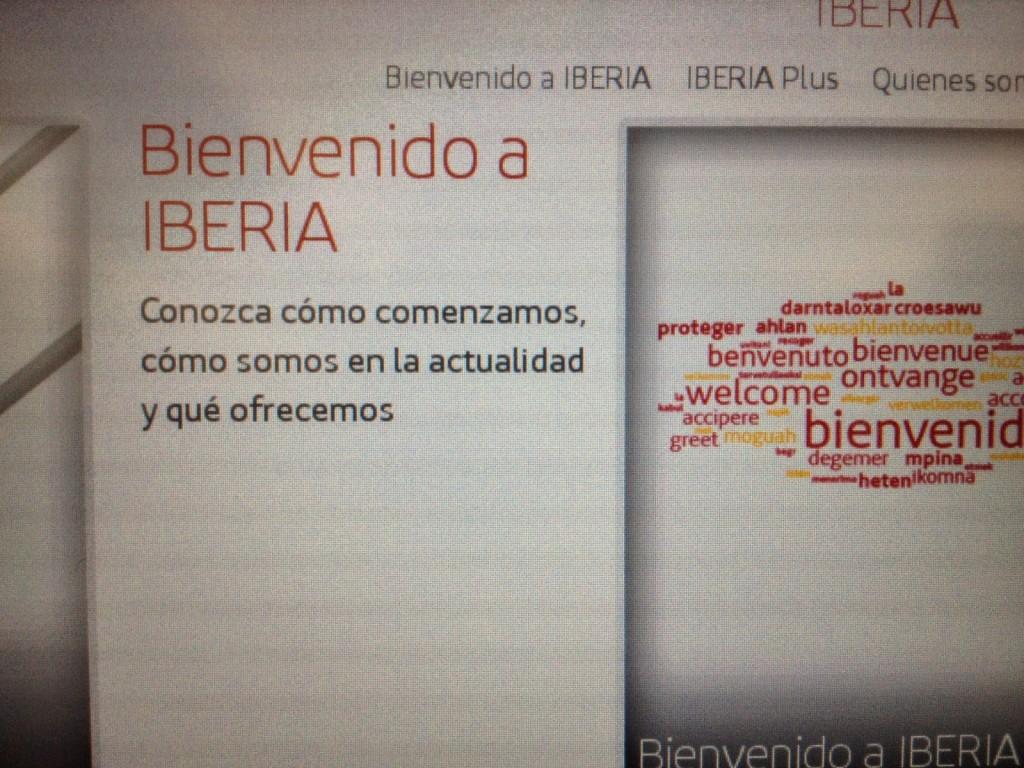 Bienvenido a Iberia