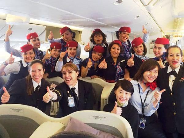 Tripulación completa del vuelo de Aeroméxico