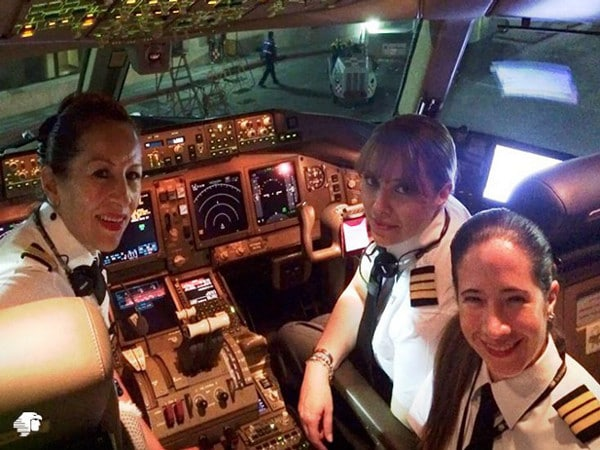 Tripulación de cabina del vuelo de Aeroméxico