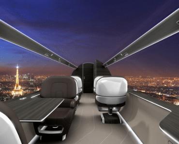Un avión sin ventanas, ¿el futuro de la aviación comercial?