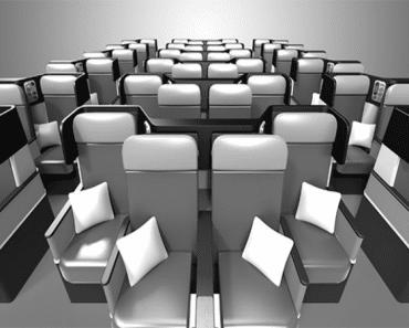 Los asientos revolucionarios de los próximos aviones