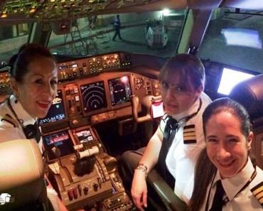 Primer vuelo transpacífico tripulado sólo por mujeres. ¿Gran avance en igualdad?