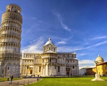 Pisa,  con una torre menos inclinada y la casa de Galileo